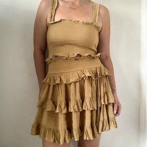 Free People Mustard Skirt and Top Set